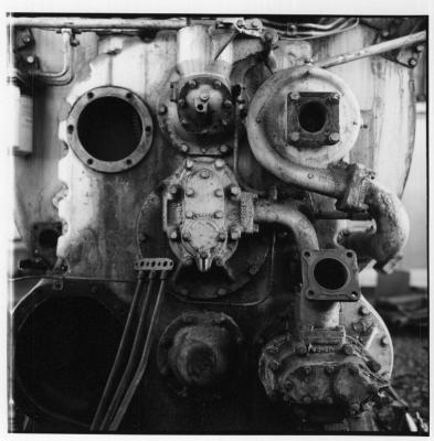 Rolleiflex 3.5E image of a big motor