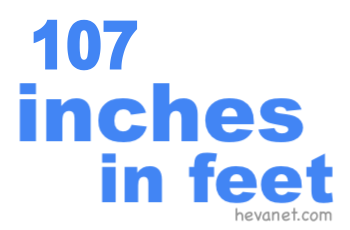 107 inches in feet