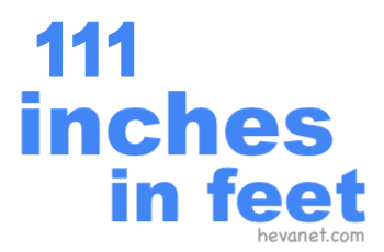 111 inches in feet