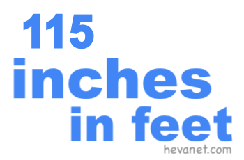 115 inches in feet