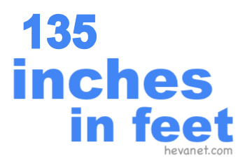 135 inches in feet