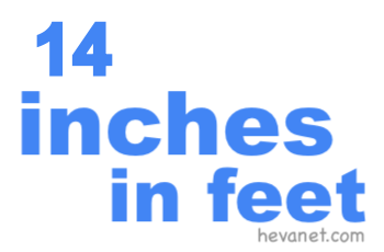 14 inches in feet