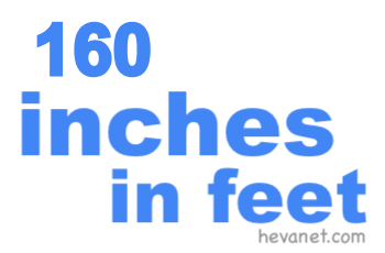 160 inches in feet