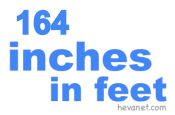 164 inches in feet