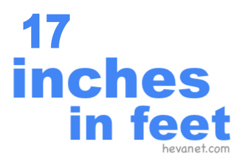 17 inches in feet