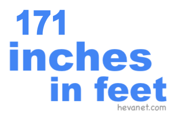 171 inches in feet