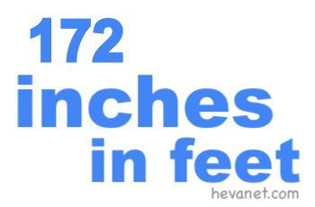 172 inches in feet
