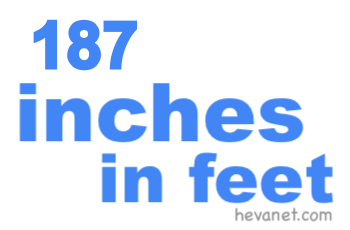 187 inches in feet