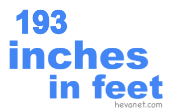 193 inches in feet