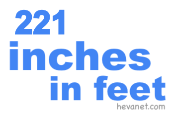 221 inches in feet
