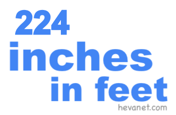 224 inches in feet