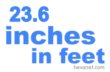 23.6 inches in feet