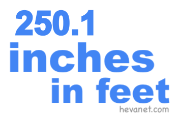 250.1 inches in feet