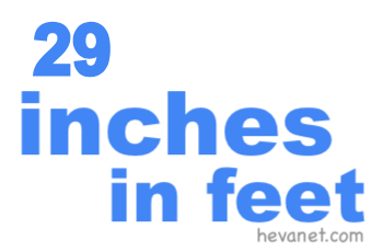 29 inches in feet