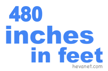 480 inches in feet