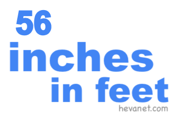 56 inches in feet