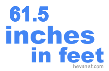 61.5 inches in feet