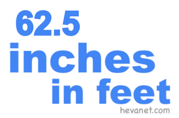 62.5 inches in feet