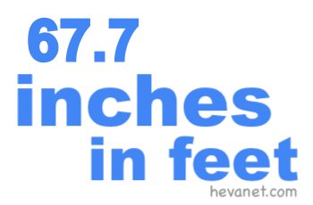 67.7 inches in feet