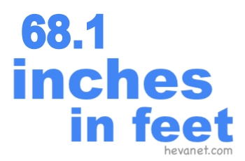 68.1 inches in feet