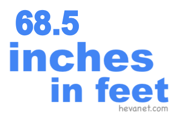 68.5 inches in feet
