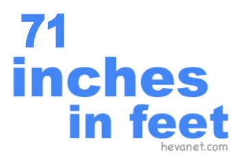 71 inches in feet