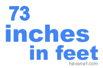 73 inches in feet