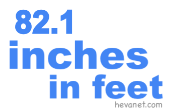 82.1 inches in feet