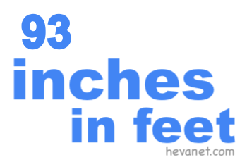 93 inches in feet
